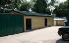 Timber storage barn exterior