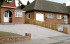 Block paved drive & garage conversion