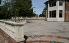 Large Patio & stone ballustrade