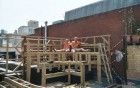 framework for roof top bar