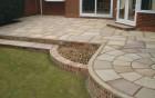 Sandstone patio & steps
