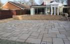 buff walling & sandstone paving