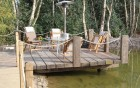 Hardwood timber pier